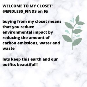 🌱Welcome to my closet!🌱